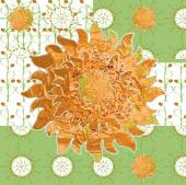 Patterned picture simple spring sunny meadow — Cтоковый вектор