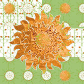 Patterned picture simple spring sunny meadow — Vector de stock