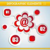 Paper Infographic colorful scheme with numbers elements. Web ill — Stockvector
