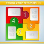 Colorful Paper Infographics Elements for Design. — Stockvector