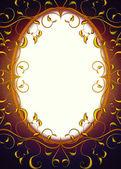 Retro Fantasy frame — Stock Photo
