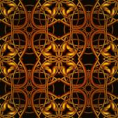 Bright Orange Fantastic Pattern — Stockfoto