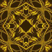 Rich Fantasy Golden Pattern — Stock Photo