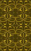 Rich Fantasy Golden Pattern — Stockfoto