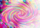 Multicolor Triangular Background — Stock Photo