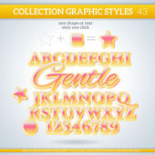 Gentle Graphic Styles for Design. use for decor, text, title, ca — Stok Vektör