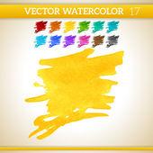 Watercolor Artistic Splashes — Stock Vector
