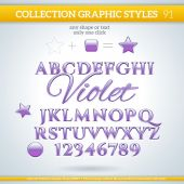 Graphic Styles for Design — Stock Vector