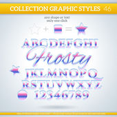 Frosty Graphic Styles — Stock Vector