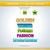Graphic Styles set — Stock Vector
