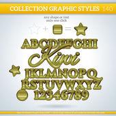 Kiwi Graphic Styles — Stock vektor