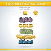 Metallic Graphic Styles — Stock Vector
