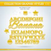 Banana Graphic Styles — Stock vektor