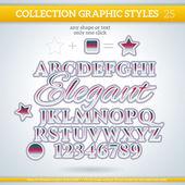 Elegant Graphic Styles — Stock Vector