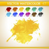 Watercolor Artistic Splashes — Stock Vector