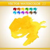 Watercolor Artistic Splashes — Stockvector