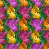 Iris nahtlose muster — Stockfoto