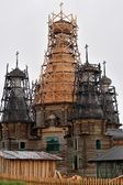 Old wooden Russian church — Stock Photo
