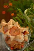 Christmas cookies with caramel windows — Foto Stock
