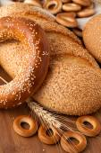 Bagel with sesame seeds — Stock Photo