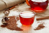 Rooibus tea traditional south africa antioxidant beverage with spices — Stock Photo