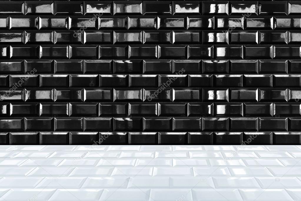 Mattoni in ceramica bianca lucide piastrelle di parete e pavimento ...