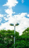 Light pole at park in nice blue sky — Stock Photo