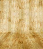 Wood parquet room — Stock Photo