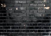 Black brick wall texture — Stock Photo