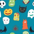 naadloze halloween patroon — Stockvector  #59805799