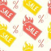 Pattern of  sale tags — Stock vektor