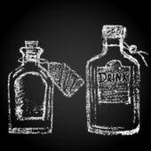 Chalk painted bottles — Διανυσματικό Αρχείο