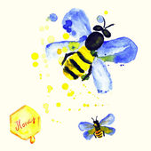 μέλισσες με μέλι — Διανυσματικό Αρχείο