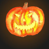 Calabaza de halloween. — Vector de stock
