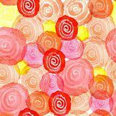 Watercolor abstract circles — Stock Vector