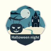 Halloweenské noci — Stock vektor