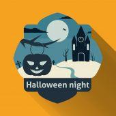 Halloween night — Cтоковый вектор