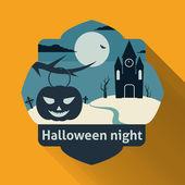 Halloween night — Stockvektor