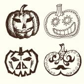 Calabazas de halloween. — Vector de stock