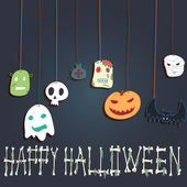 Halloween card with Monsters — Stock Vector