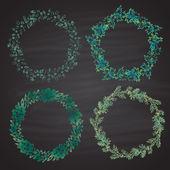 Christmas wreath set — Vecteur