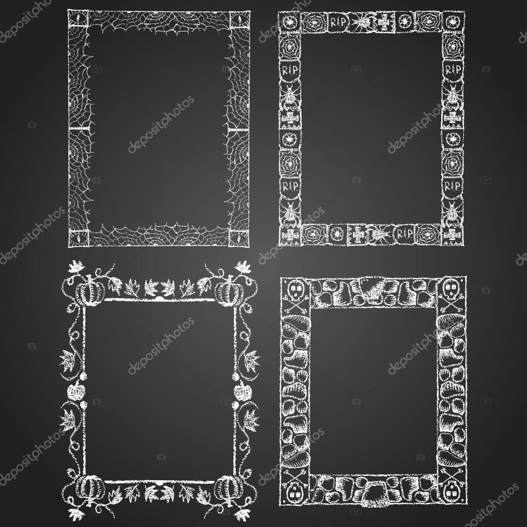 set of chalk painted frames stock vector 59805425