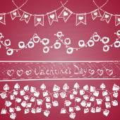 Happy Valentine's Day theme. — Stock Vector