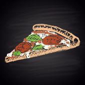 Chalk painted pizza — Wektor stockowy