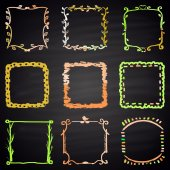 Set of chalk painted frames — Stock Vector