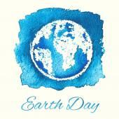 Card blue Earth . — Stock Vector