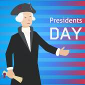 Presidents Day card. — Stock Vector