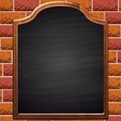 Schoolbord op baksteen achtergrond. — Stockvector