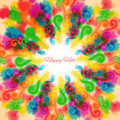 Background for Holi colorful curls. — Stock Vector