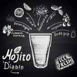 Mojito diablo cocktail — Stockvektor  #78422980